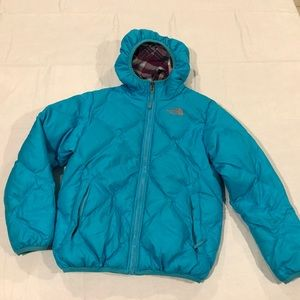 Girl's North Face 550 Reversible Down Coat Jacket